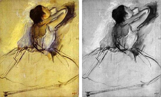 Degat - le contraste en peinture