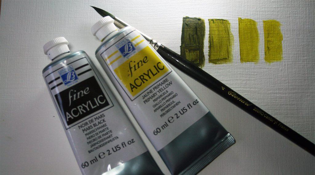 Comment faire un vert olive