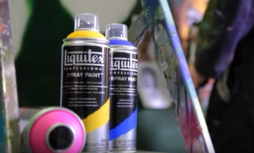Bombe de peinture acrylique