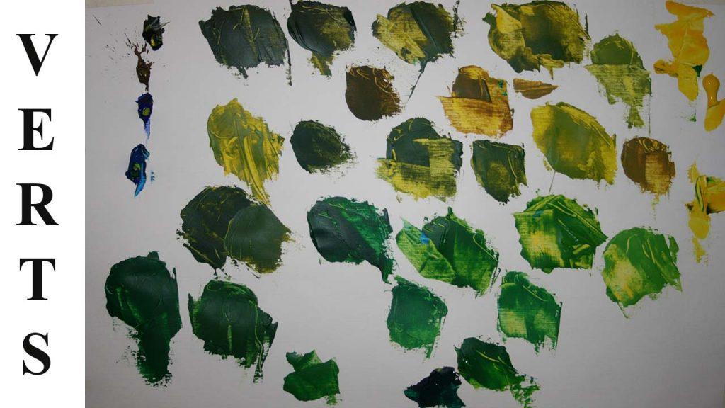 Comment fabriquer des verts à l huile, acrylique ou aquarelle