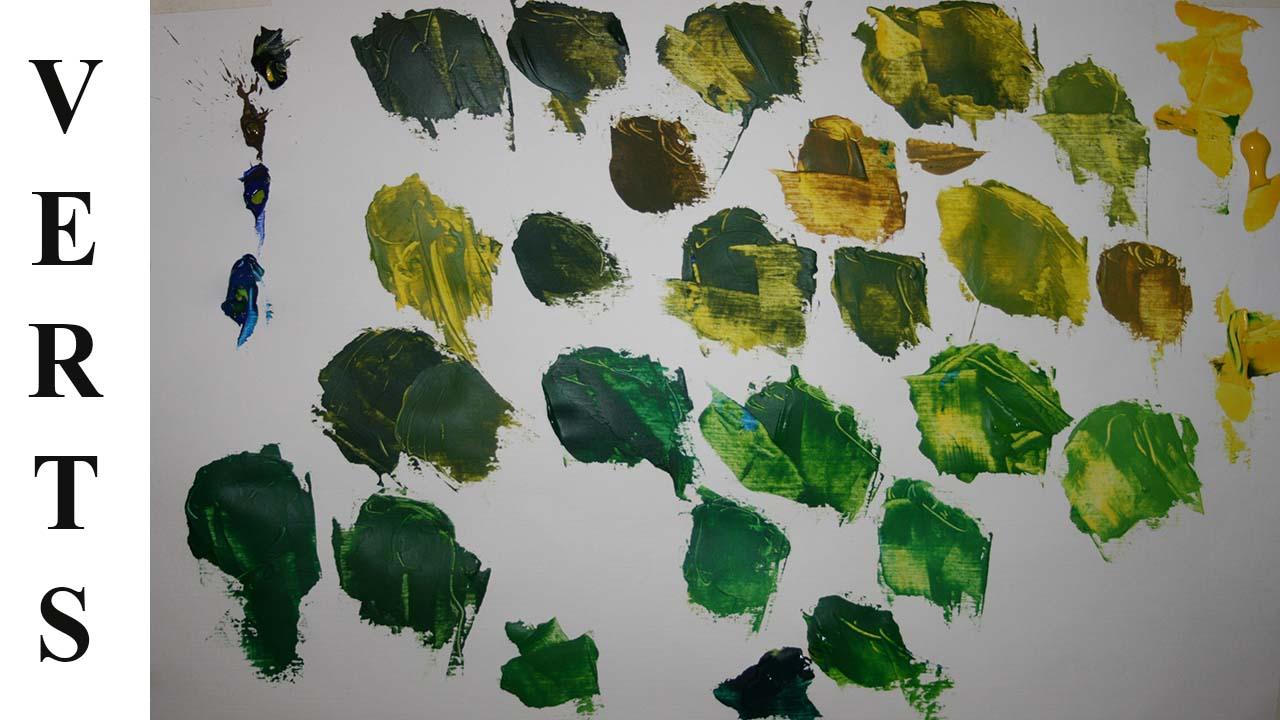 Photo of Comment fabriquer des verts, avec des couleurs simples